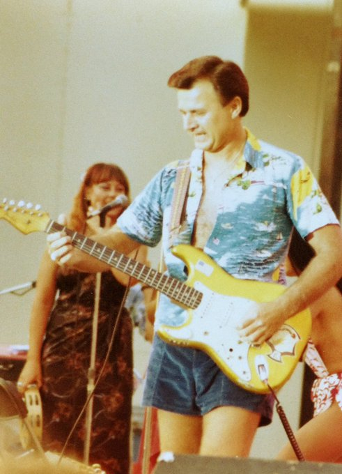 Happy Birthday to Dick Dale, King of the Surf Guitar  Pic taken at the in the early 80s