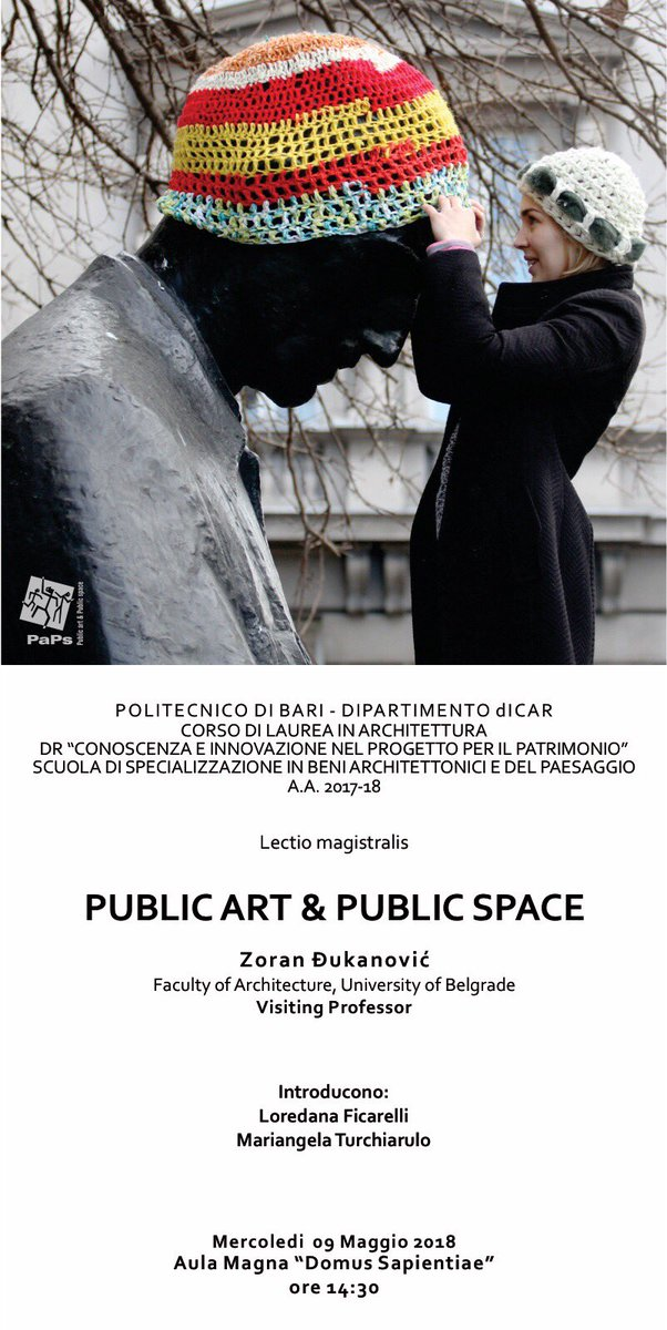 Politecnico di Bari on Twitter: #EventiPoliba #SaveTheDate #DICAR  Lectio magistralis Zoran Đukanović Faculty of Architecture, University of Belgrade Visiting Professor…