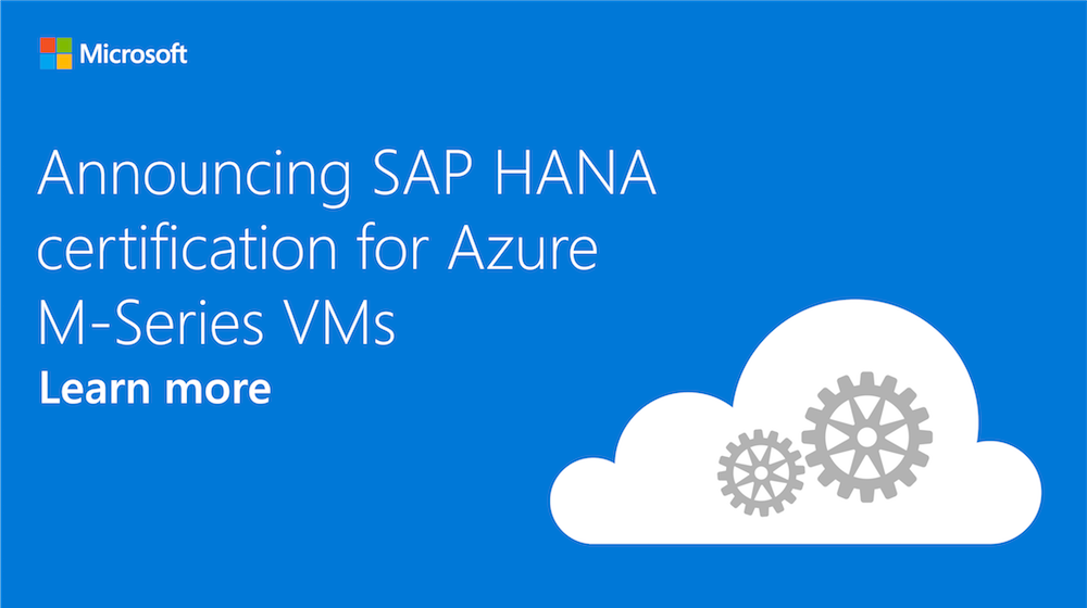Microsoft Azure On Twitter Want To Run Sap Hana In The Cloud Read