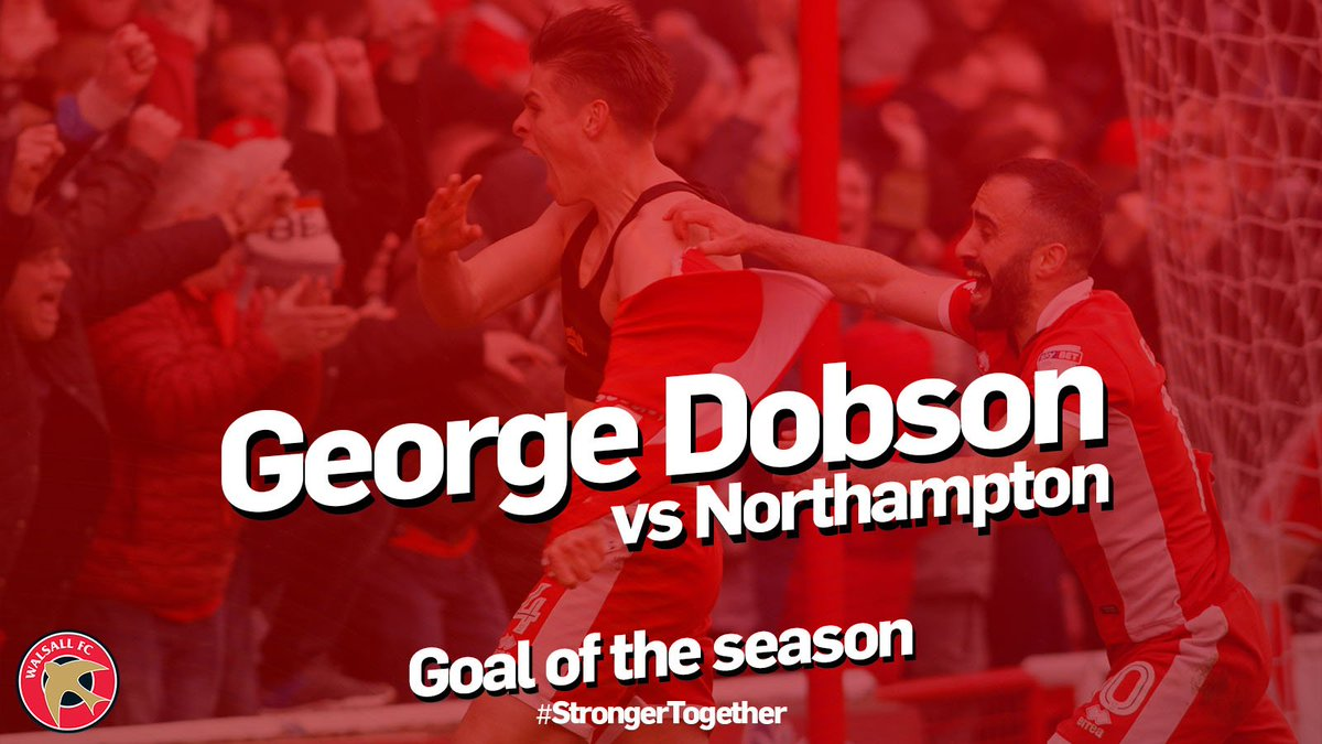 🏆 Our 2017/18 Goal of the Season goes to... @georgedobson97 for his last-gasp strike against Northampton!