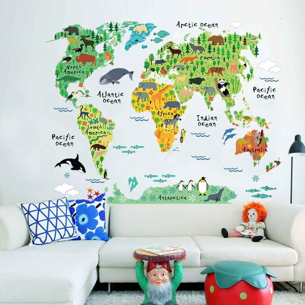 Onlmaps on twitter colorful animal distribution world map wall never miss a moment gumiabroncs Image collections