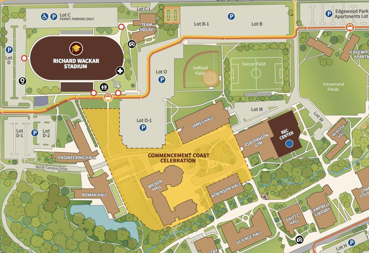 map of rowan university campus Rowan University On Twitter Attending Commencement 2018 Here S map of rowan university campus