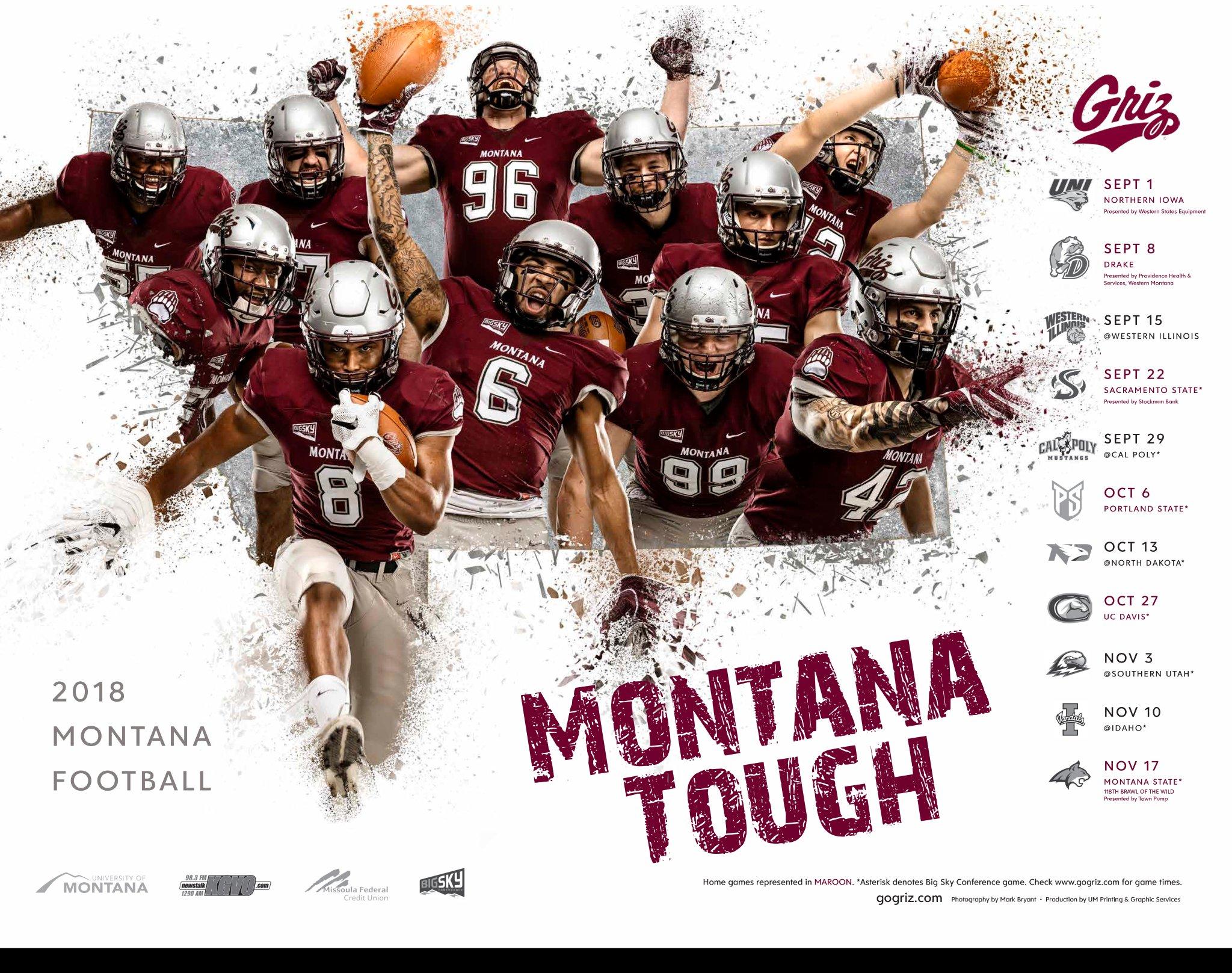 Griz Release The 2018 Poster Montana Grizzlies Griz Athletics