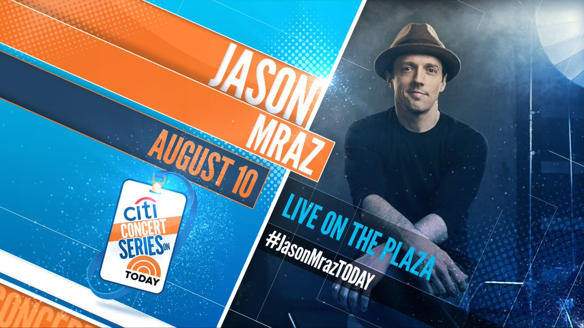 Three months of Fridays from today it will be TODAY! @TODAYshow #JasonMrazTODAY <br>http://pic.twitter.com/u93sItalJ8