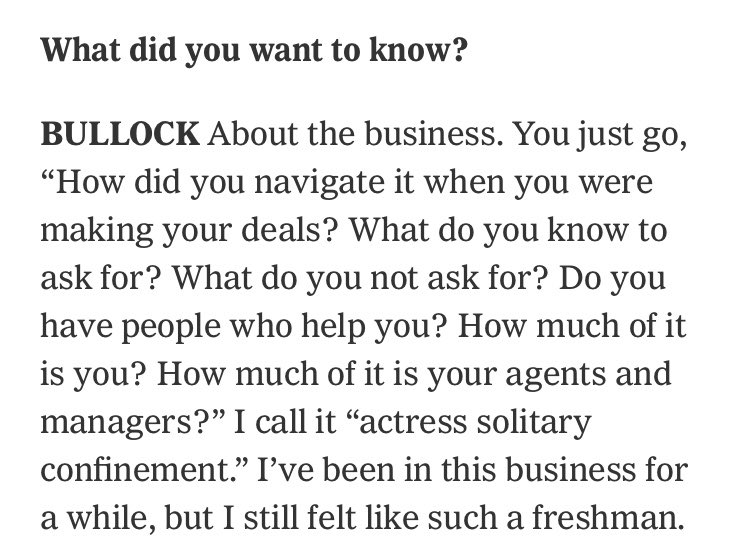 """It's Sandra Bullock! And Mindy Kaling! I talked to America's sweethearts about the benevolent matriarchy on set of """"Ocean's 8"""" and  creating their own informal resource group. nytimes.com/2018/05/04/mov…"""