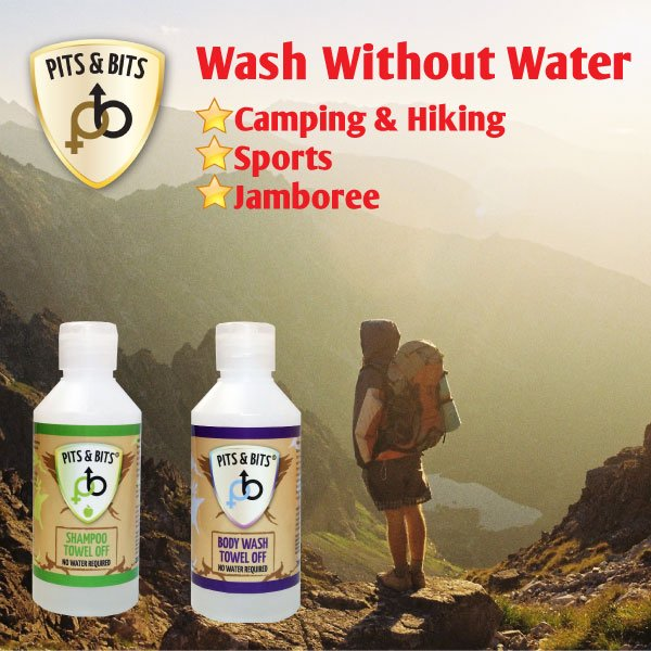 Pits and Bits Waterless Body Wash Festival Camping Sport Vegan Friendly