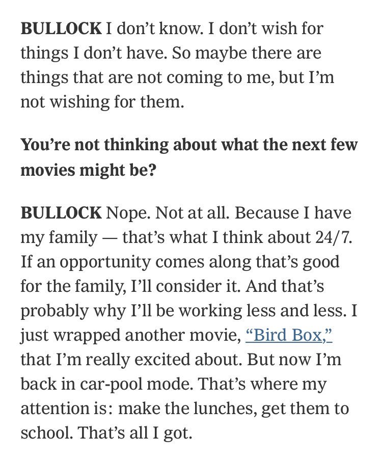 Bullock on why she's working less, despite box office wins for women