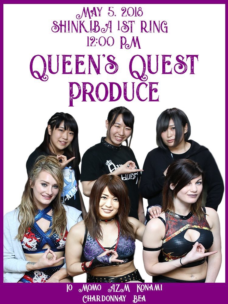 "Stardom/Queen's Quest Produce: ""Golden Week Stars""Io Shirai retiene 2"