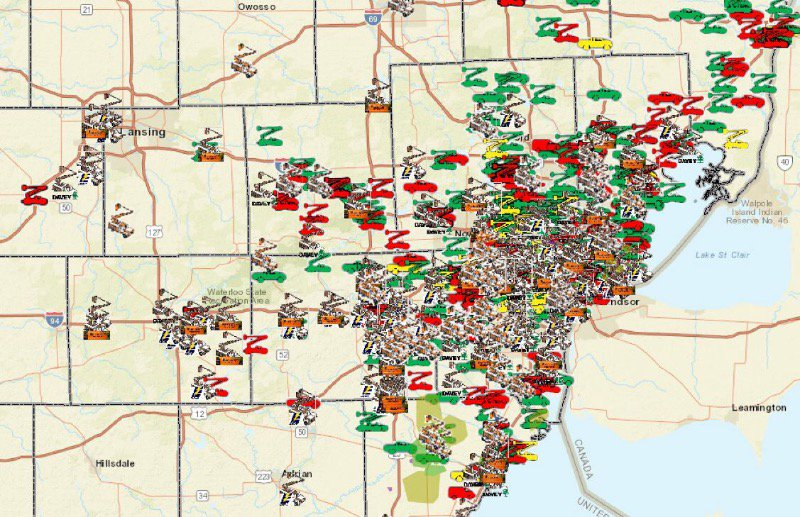 Dte Energy Map on