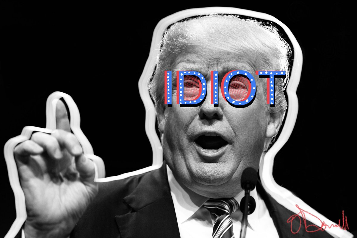 This man is an idiot #trumpLIES