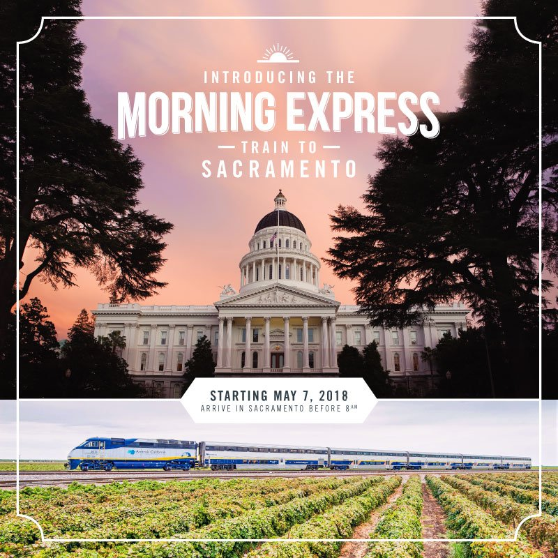 The partnership partnershipsjv twitter morning express service launches this monday may 7th take amtrak and arrive in sacramento by 8am and home by dinner follow sanjoaquins for updates malvernweather Images
