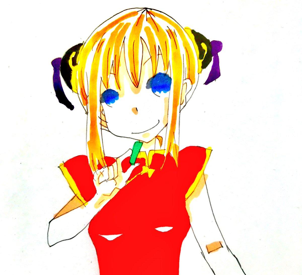 Uzivatel 咲 絵垢 Na Twitteru 銀魂 神楽 イラスト コピック アナログ 神楽可愛い
