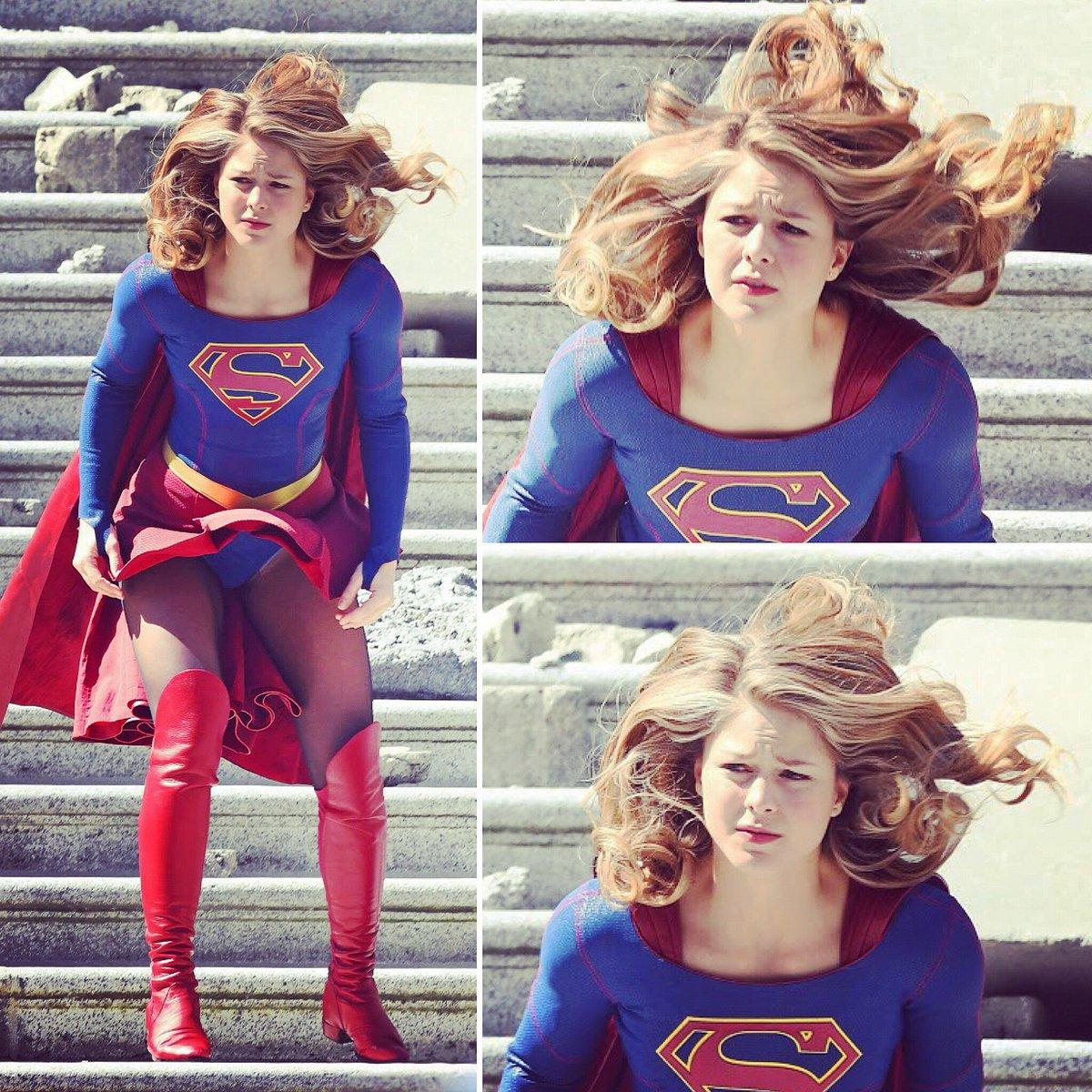 Melissa benoist supergirl upskirt