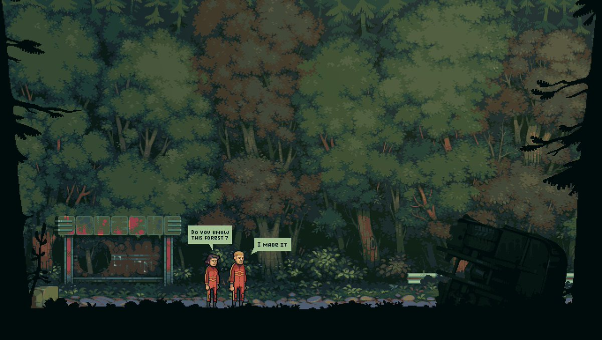60 hours and forest tile ready @bunker_game #pixel #pixelart #bunkergame #indiedev #indie #indiegame #forest