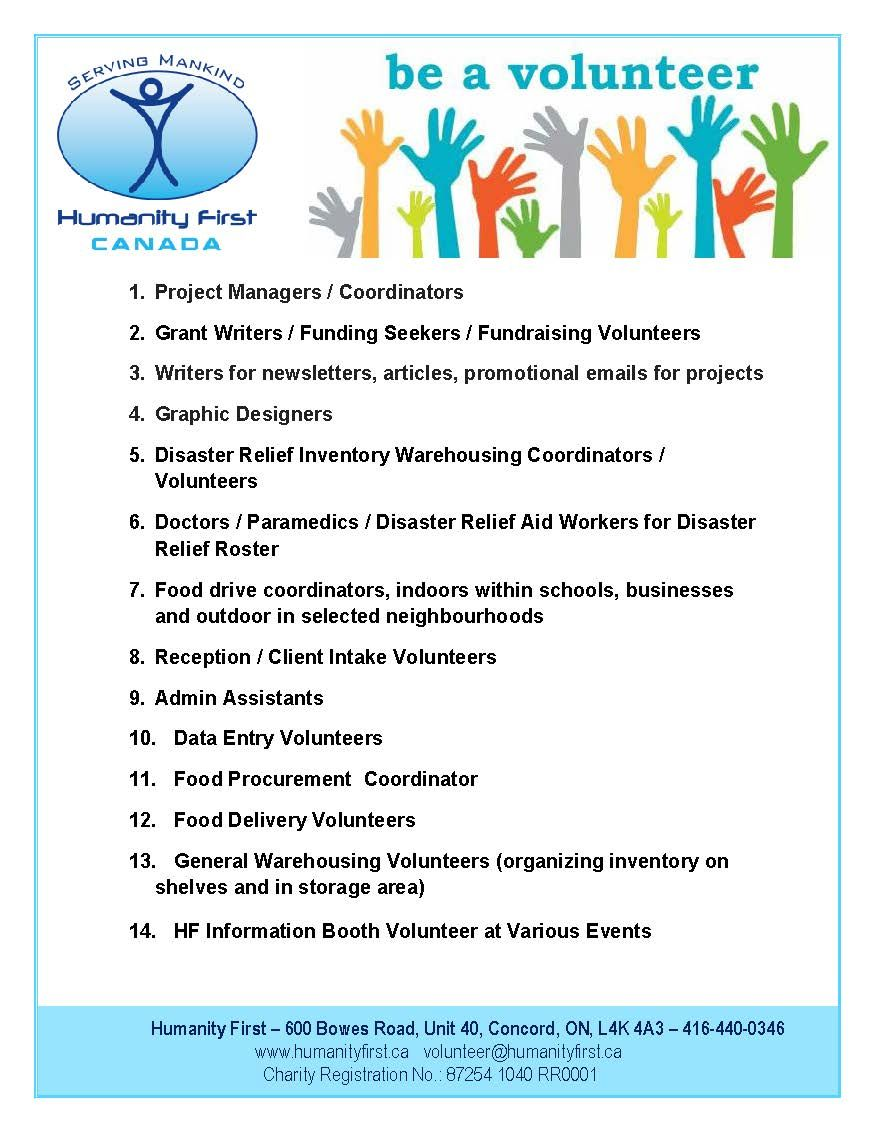 Be the selfless volunteer with @humanityfirst Sign up at  http://www.humanityfirst.ca pic.twitter.com/PMAaTsCrDw