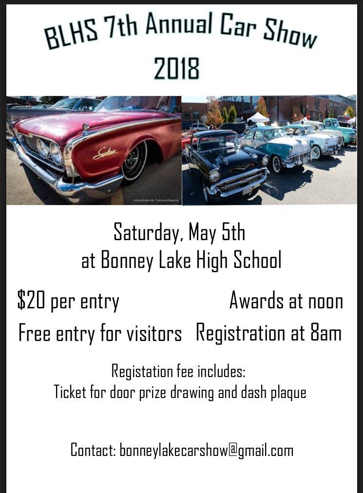 Bonney Lake Car Show Blhscarshow Twitter - Car show tomorrow