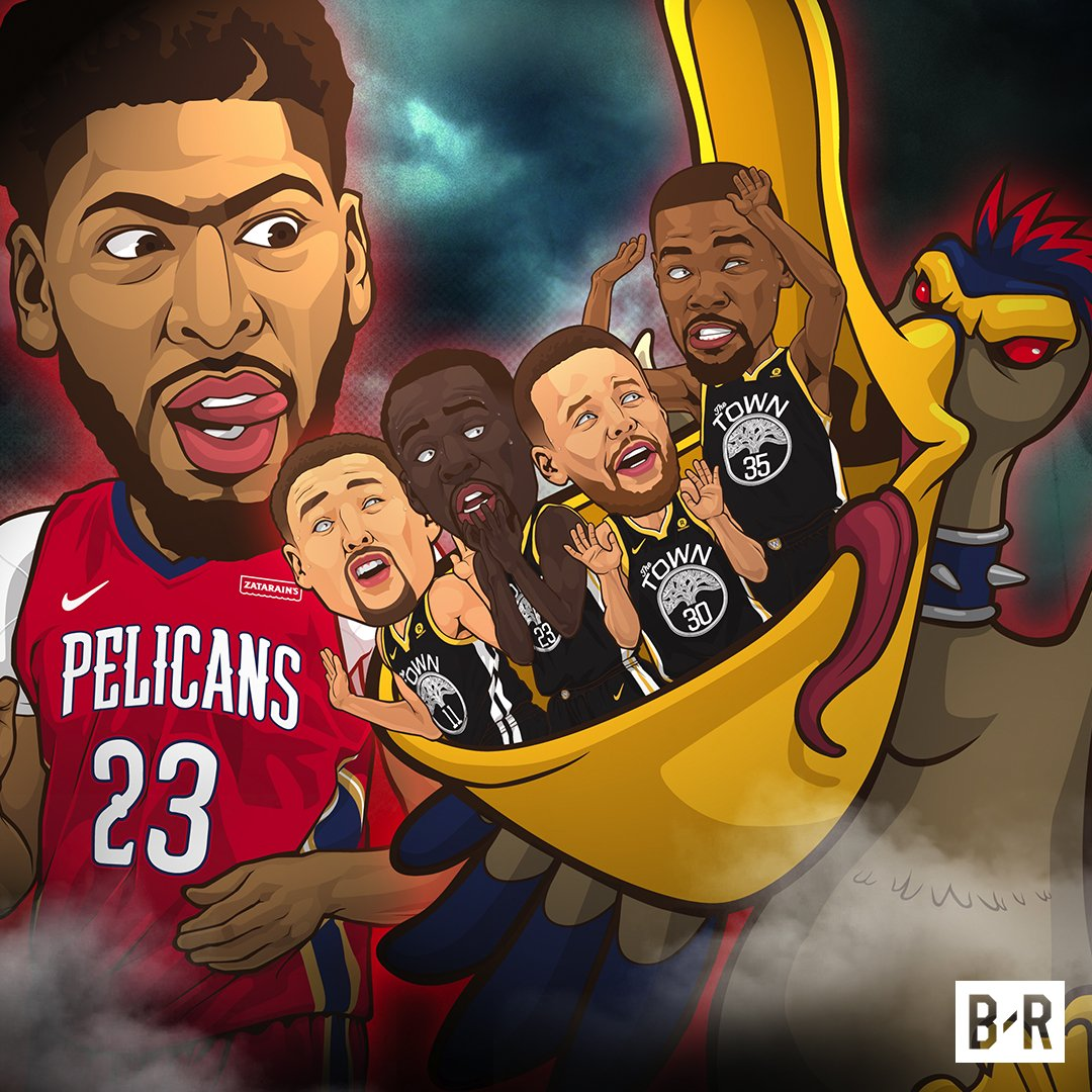 AD and the Pelicans had a surprise for the Warriors! https://t.co/QCUAF5Fk8K