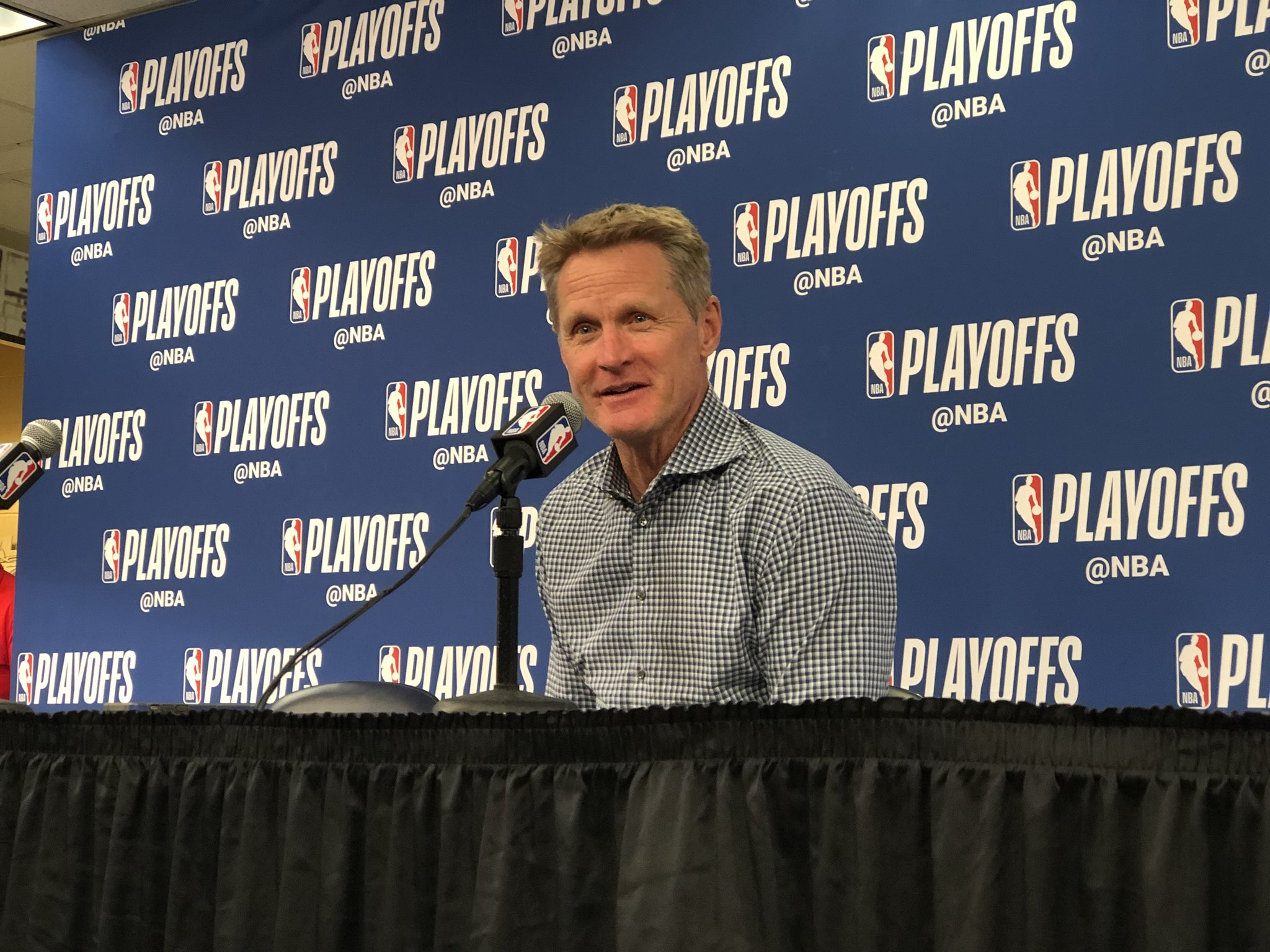 Kerr is speaking with the media.   Watch live: https://t.co/82BJIKmalA https://t.co/EqXauMUx6q