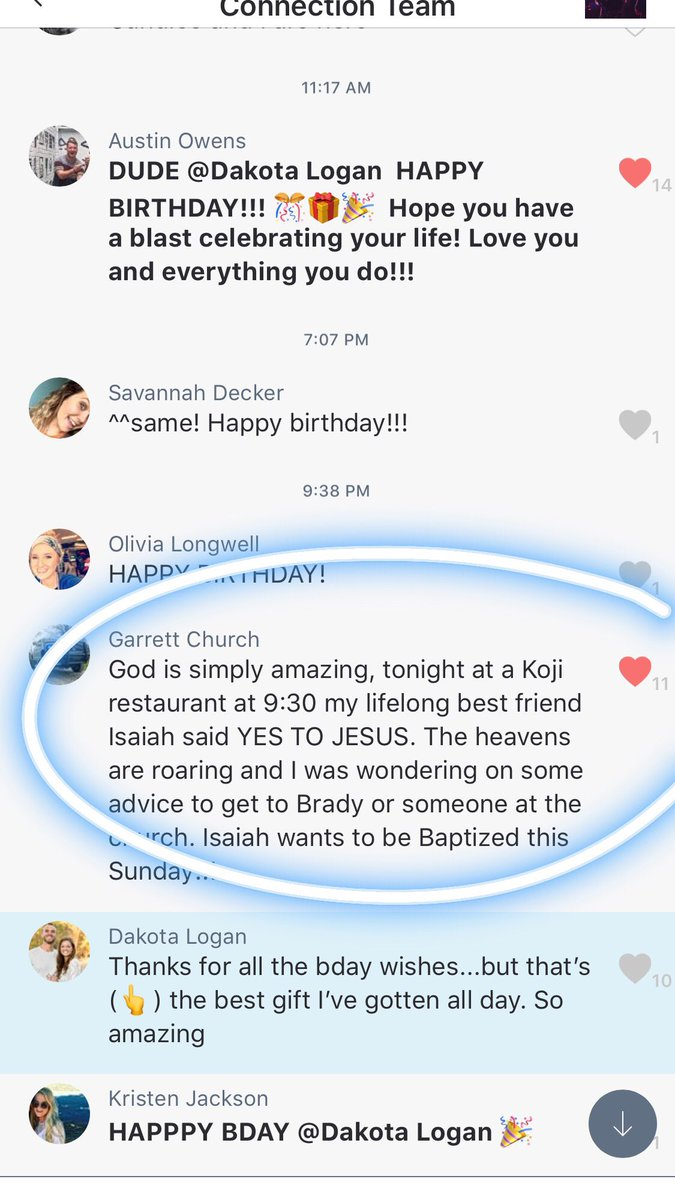 Dakota Logan On Twitter Best Birthday Present I Could Ask For Hearing About A College Student Leading Friend To Christ