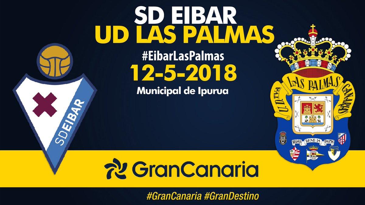 ¡Día de partido! A las 17.30h.c, #EibarLasPalmas en Ipurua.¡#VamosUD!