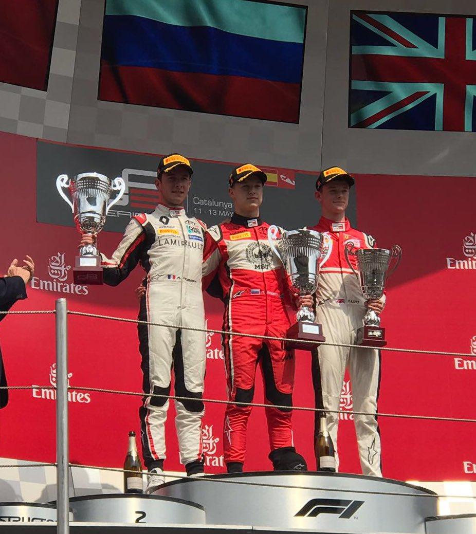Nikita on the podium