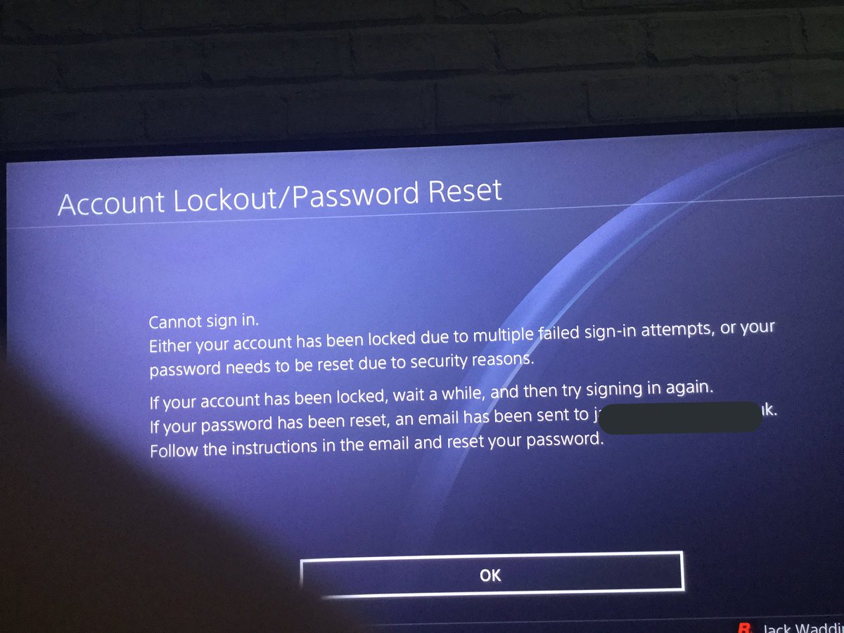playstation account lockout