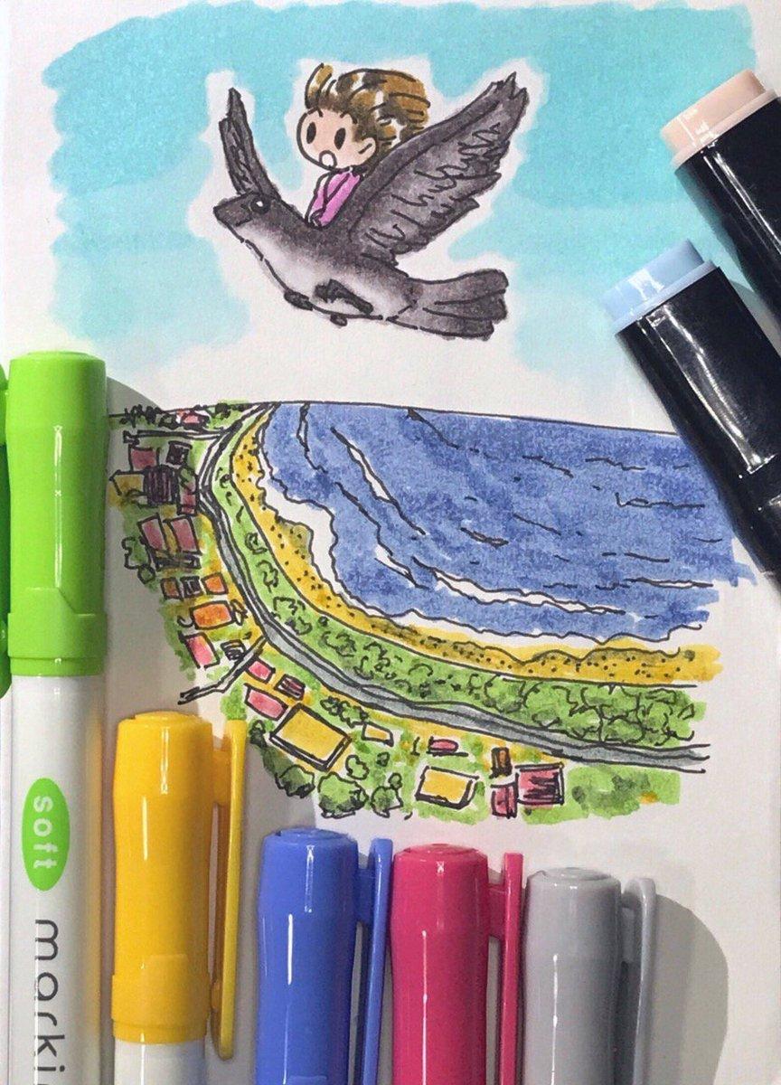 test ツイッターメディア - 最近のダイソーのマーカーの色すごいよね…お絵描き入門本当にこれだけでいい気がするもんね… #イラスト #ダイソー https://t.co/1Ki578OJct