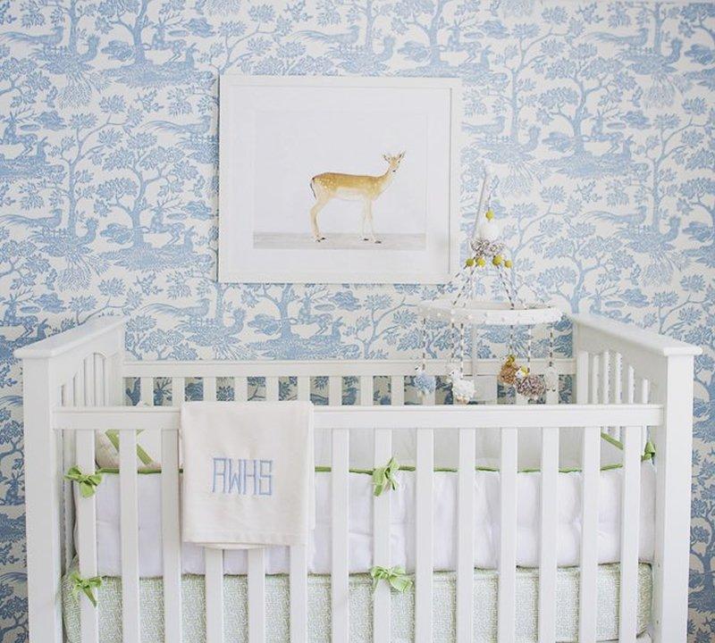Quadrille Fabrics On Twitter Magic Garden Wallpaper Interior Design By Ashley Whittaker