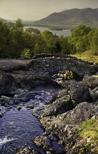 New post (Ashness Bridge, Cumbria looking towards Derwentwater. This ancient packbridge is...) has been published on Happy Mothers Day 2018 - happymothersdaywishes.info/ashness-bridge…