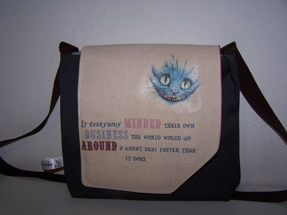 New post (Alice in Wonderland handbag.  Blue tweed Alice Cheshire Cat bag.  Birthday, an...) has been published on Happy Mothers Day 2018 - happymothersdaywishes.info/alice-in-wonde…