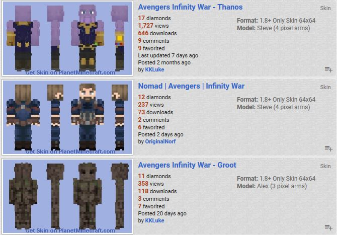 Planet Minecraft On Twitter Have You Seen The New Avengers - Skins minecraft para la 1 8