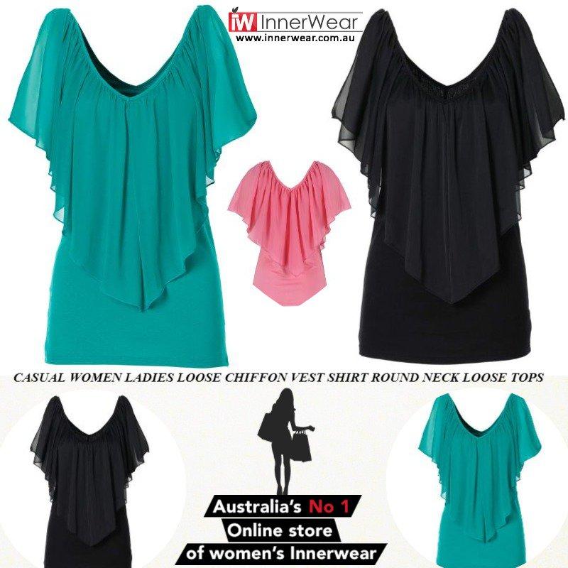 b271ade6fda3b ... https   www.innerwear.com.au shop blouses-shirt casual-women-ladies -loose-chiffon-vest-shirt-round-neck-loose-tops  …
