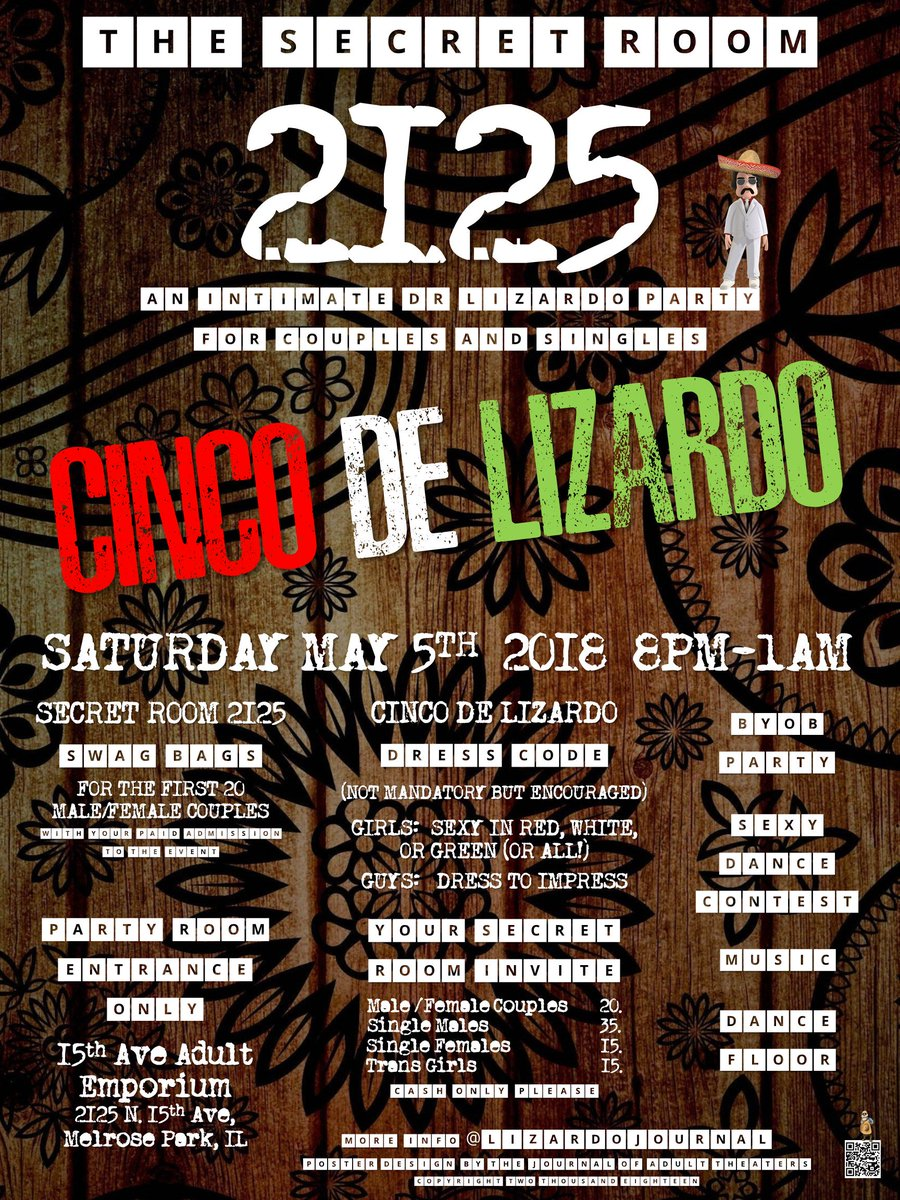 15th Ave Adult On Twitter Its Here Saturday May 5th Join The Good Doctor Twistinglee Liz At The Byob Bar Inside The Secret Room 2125 Cinco De