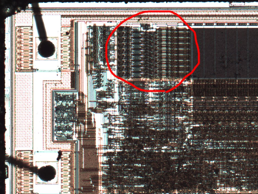 Chris Gerlinsky On Twitter The Camera Flash Is Pointed Down Circuit Light From Was Focused Around Area Beside Memory Address Decode Row Select But There Are Effects In Other Areas As