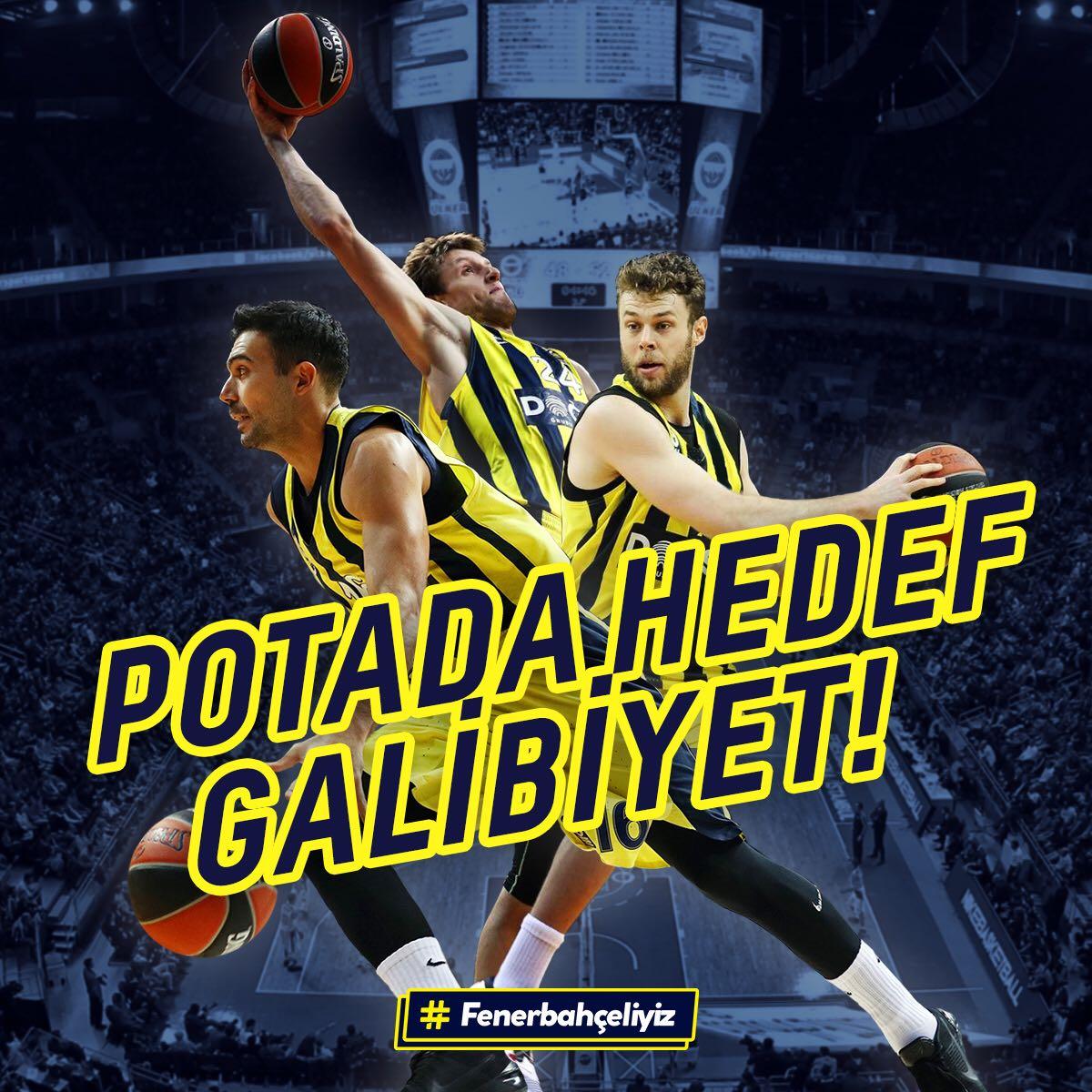 Potada rakip Beşiktaş, hedef galibiyet! Başarılar @FBBasketbol! #TamZamanıŞimdi https://t.co/LDTaXLTfCl