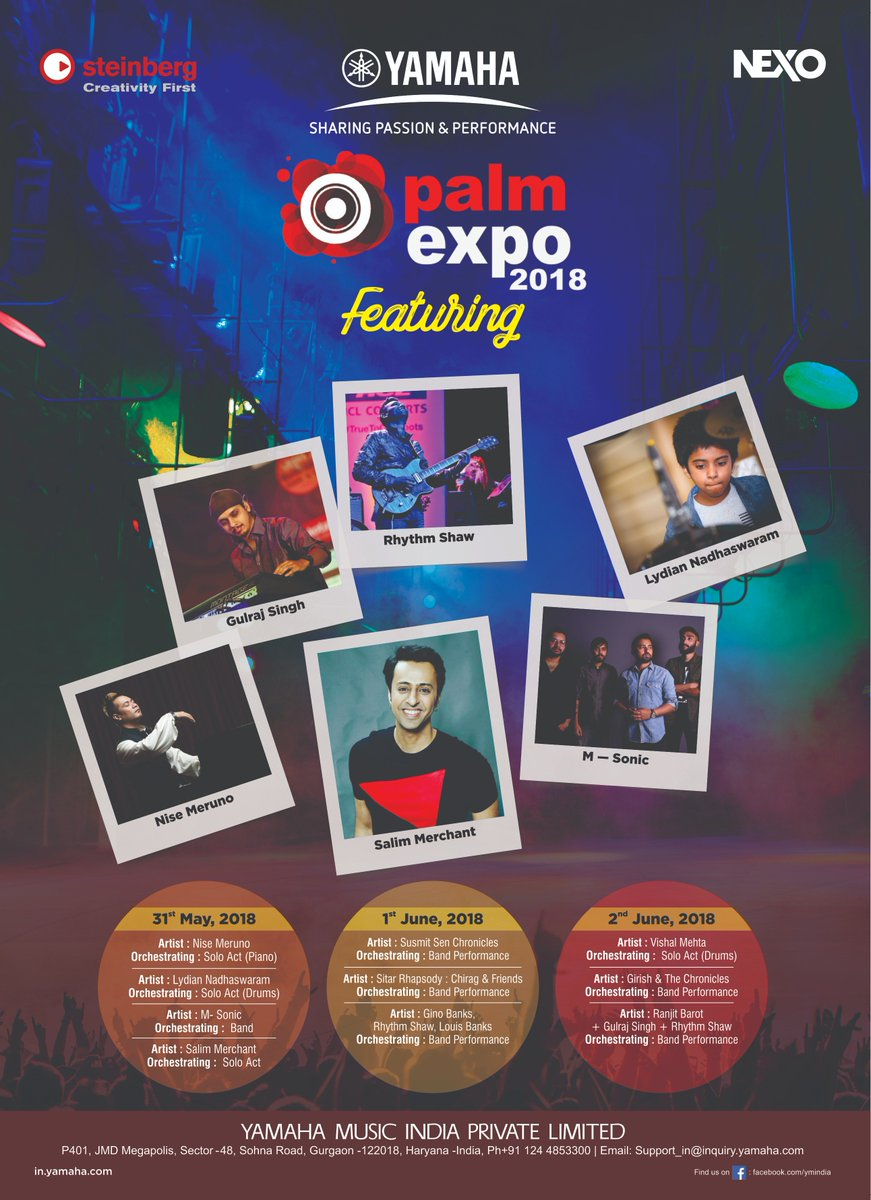 Palm Expo India On Twitter Exciting Schedule For Yamaha Is Out Now Be Sure To Visit Them At Hall 2b 2c Only 2018