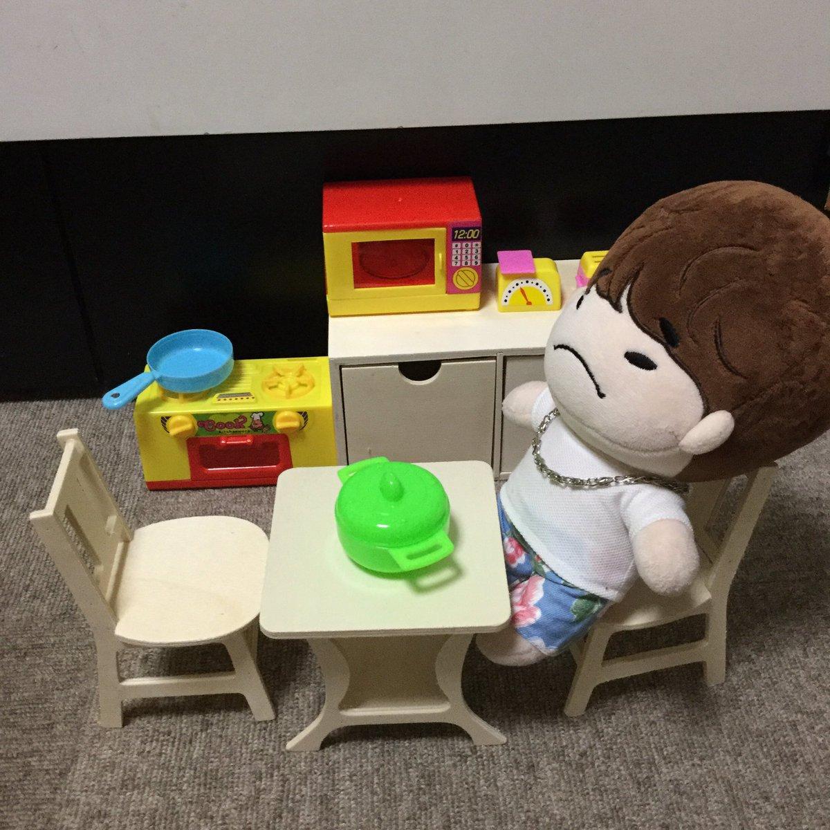 test ツイッターメディア - こちらは数ヶ月前にセリアで買ったキッチンセット。ガスコンロが少し小さくて残念😊 家具は以前紹介したダイソーで買った物です😄 #2PM #JUNHO #セリア #ダイソー #100均 #ドール #doll https://t.co/DEOOjFpj2P