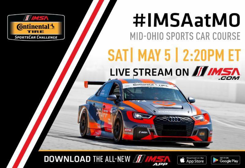 Imsa Live Stream >> Imsa On Twitter The Continentaltire Sportscar Challenge Mid Ohio