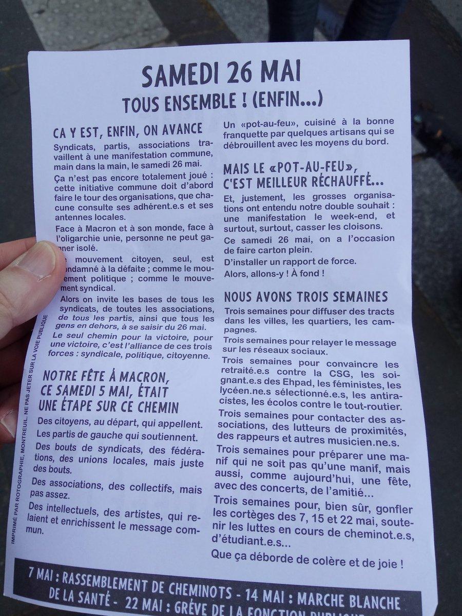 On remet ça le 26 mai? Rassemblés ! @LaFeteaMacron #Macron