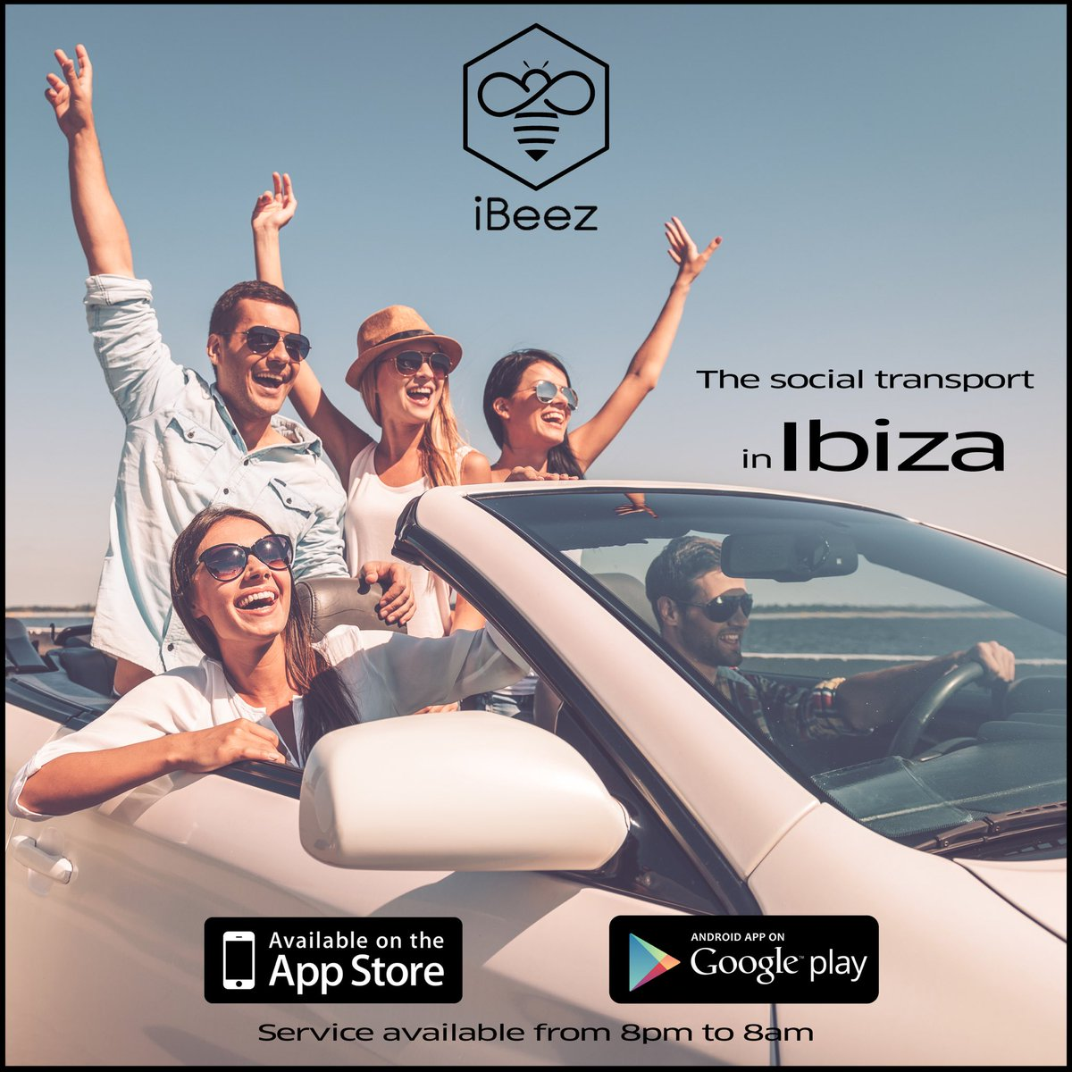 Ibiza this season ? 🌴  Don't forget to download our app available on Appstore & Playstore for find driver around you 🐝 👉 https://t.co/Urtwg44QaP  #iBeez #ibiza2018 https://t.co/qYT4bG4LqH