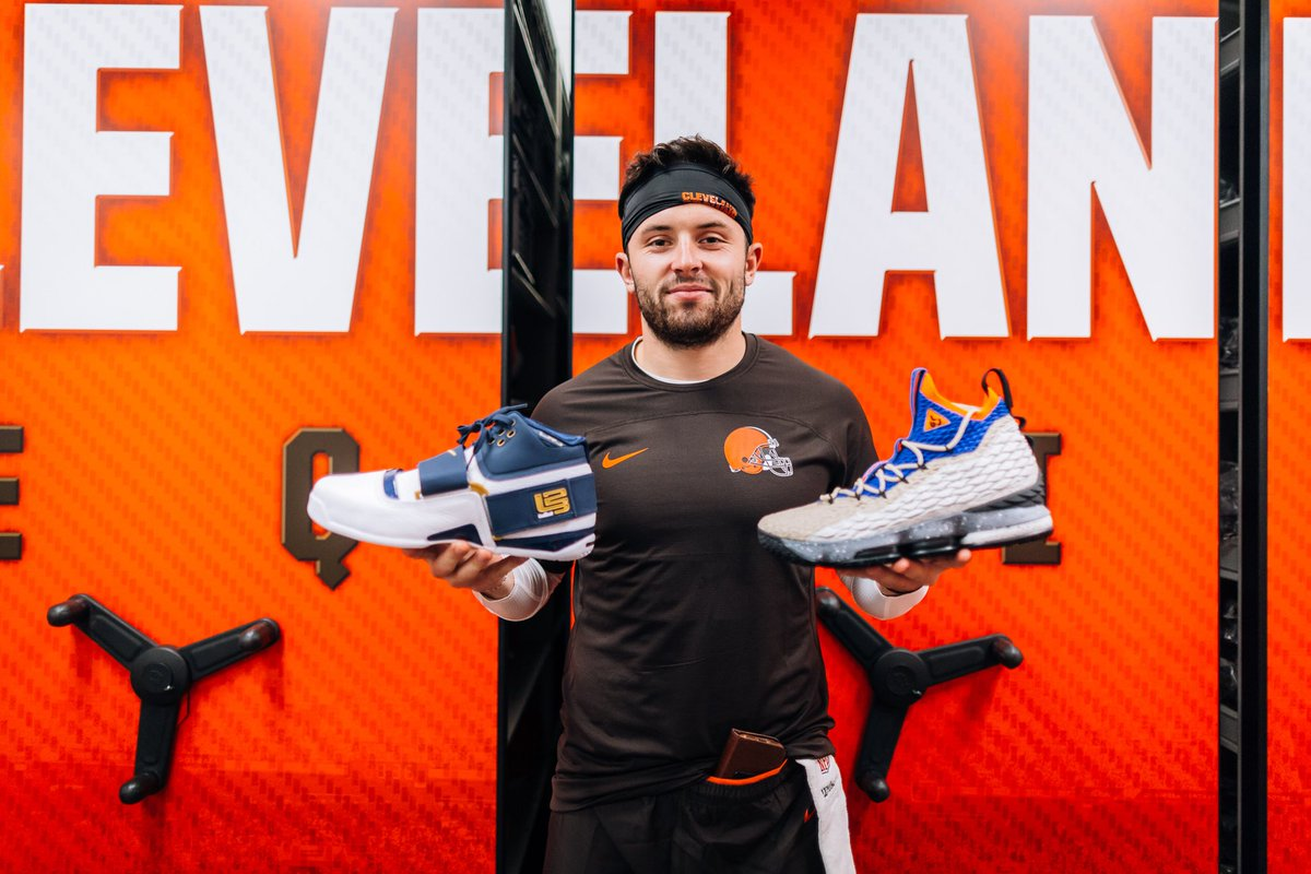 6b31e43fab74 nike hooked up browns rookies baker mayfield and denzel ward with the lebron  soldier i 25