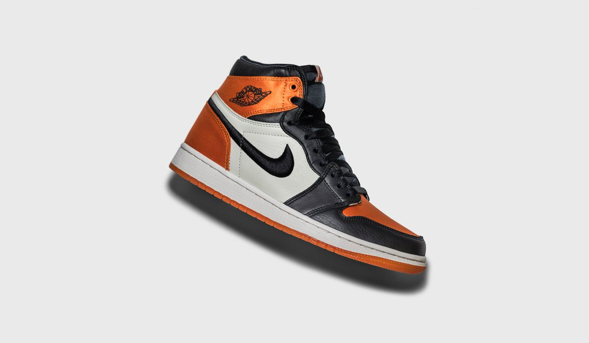 a3fc4a2e97f The Air Jordan 1 returns in the 'Shattered Backboard' colorway, equipped  with satin constructed uppers and a translucent outsole.