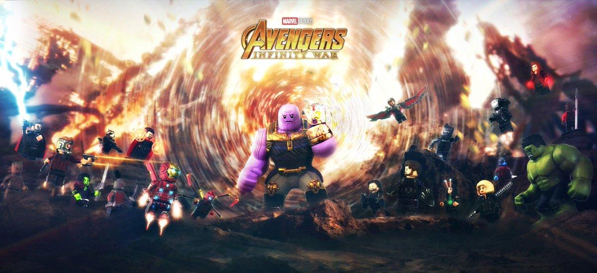 Avengers Infinity War Marvel Lego Thanos Wallpaper Wade Lego