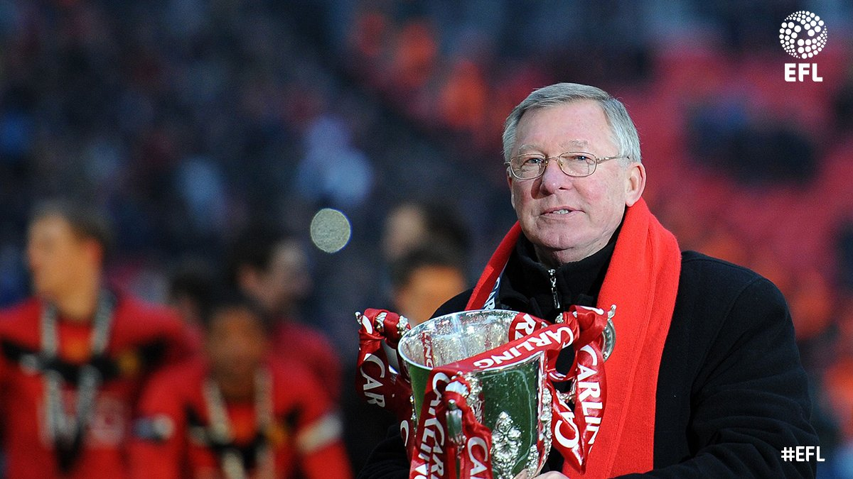 The thoughts of all at the #EFL are with the Ferguson family this evening. Get well soon, Sir Alex.