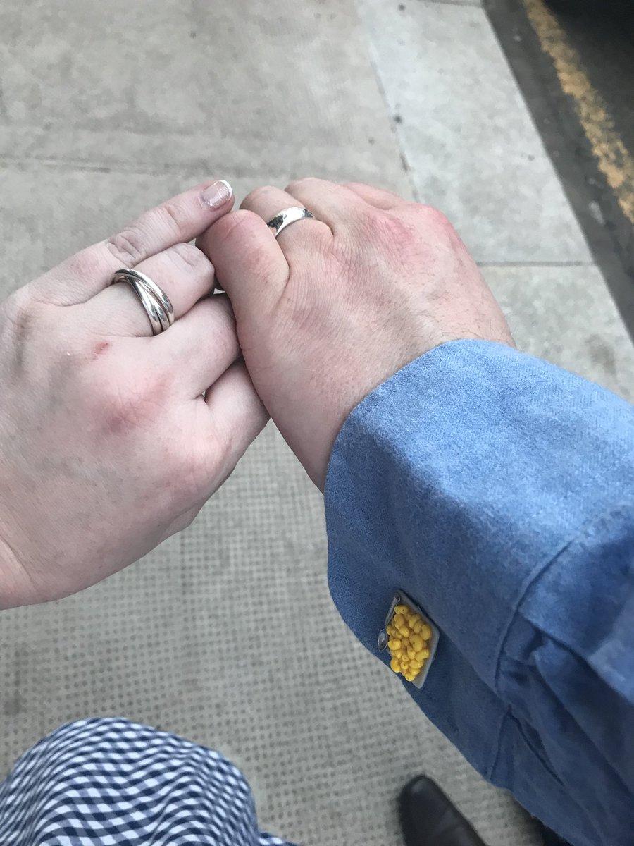 So er .... we got married today 😍❤️🥣🍻🧀🍾🥂 #Pastaval2018 https://t.co/uPrFmn4SiC