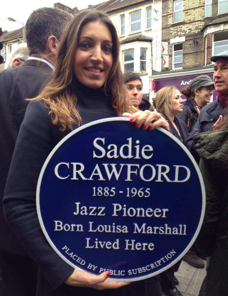 Who's coming along to see Sadie's Plaque at #MertonHeritageDiscoveryDay? AND hear Stephen Willis' Talk about his 'Great Aunt Lou' #Tooting #jazzpioneer #SadieCrawford #LostWomenOfBritishJazz