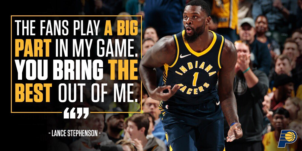 Thank you, #Pacers fans. From @StephensonLance: https://t.co/Y5wckhsMQX