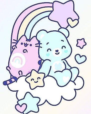 Chloecatastrophy On Twitter Pastel Pusheen Rainbow Rainbow4you