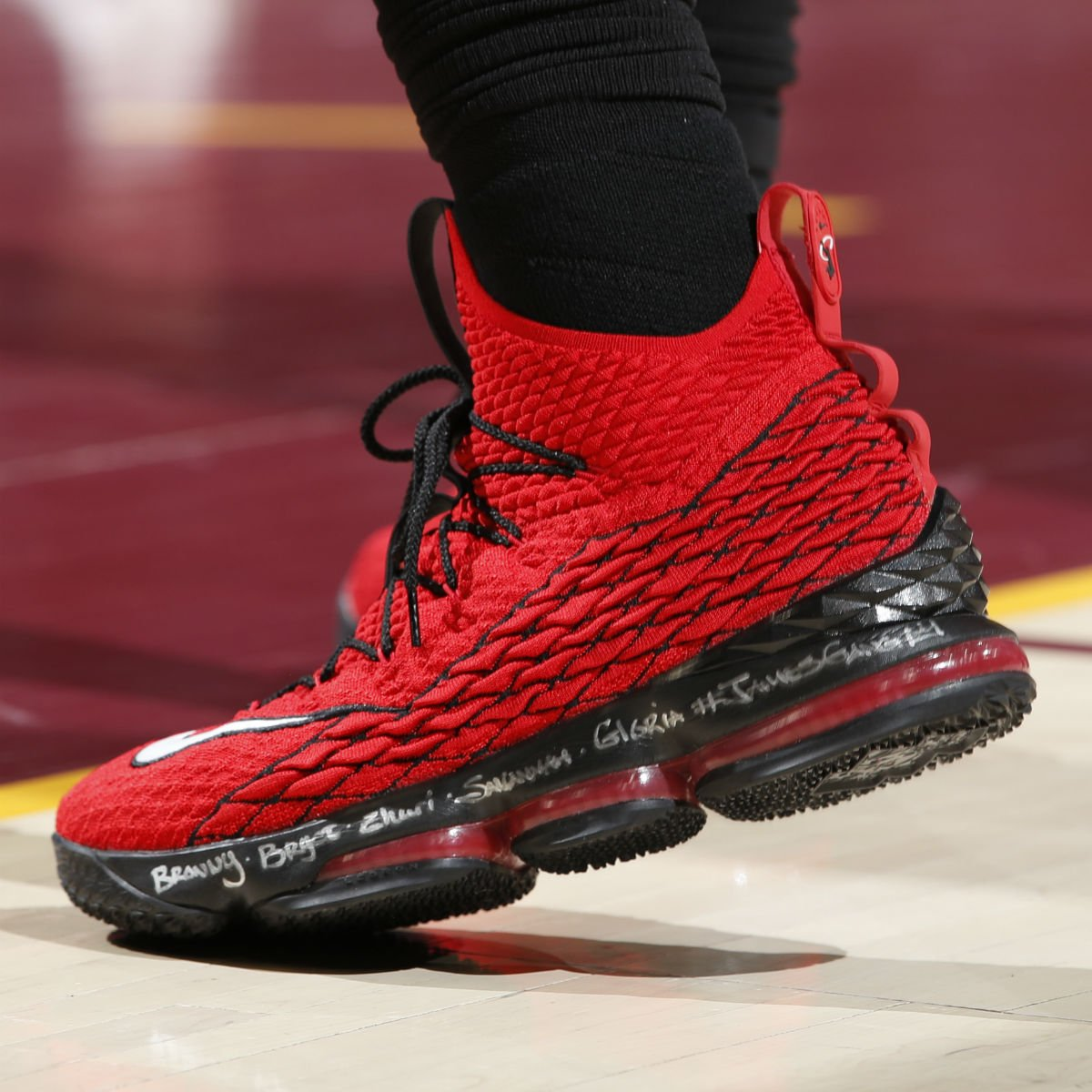 451706bf55a  SoleWatch   KingJames wearing the