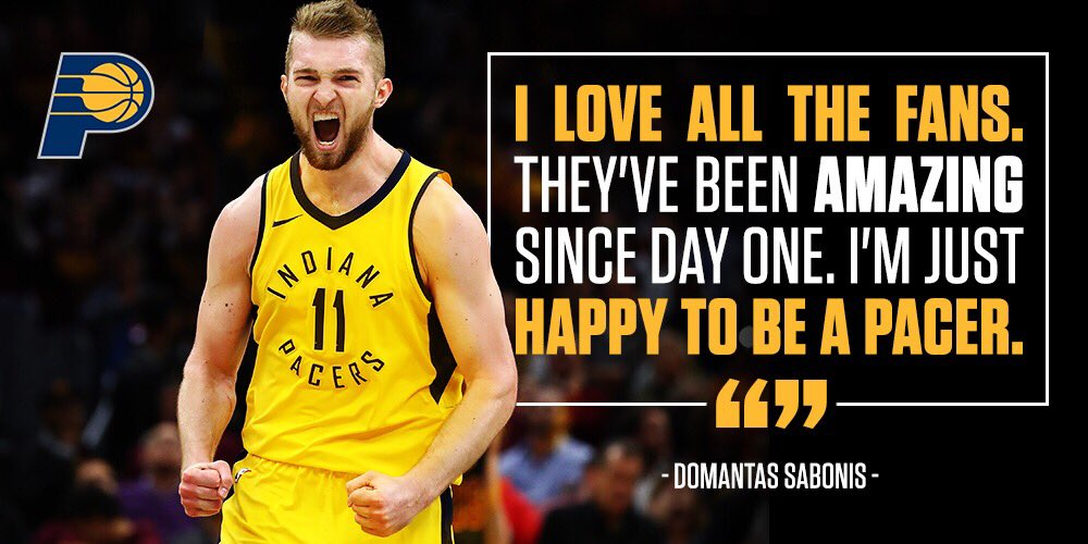 Thank you, #Pacers fans. From @Dsabonis11: https://t.co/09Xahj4Fdg